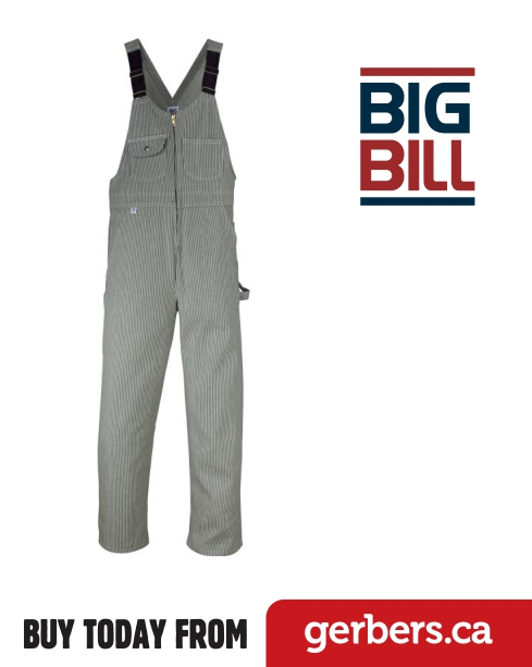 Big Bill Stripped Overalls Gerber S